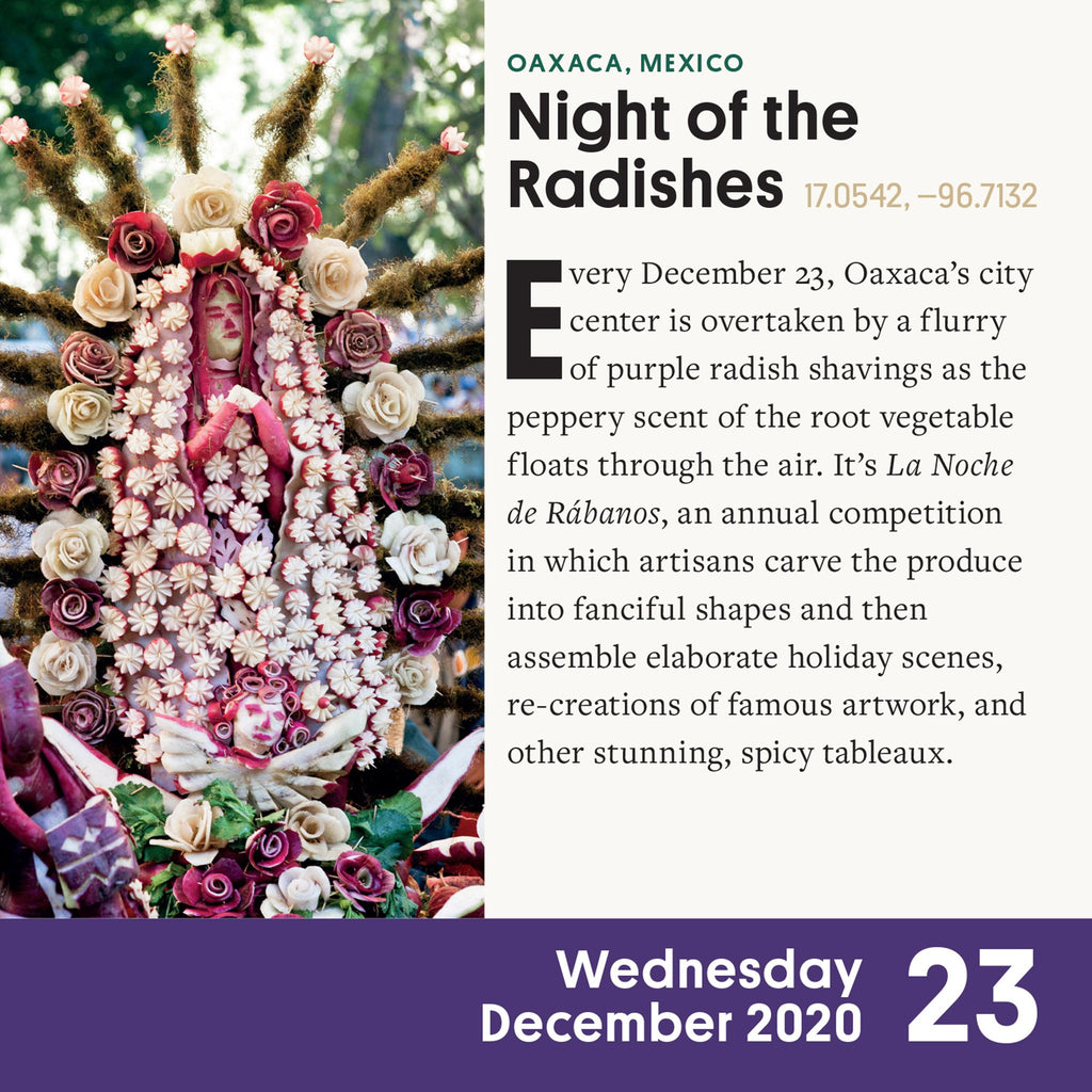workman 2020 atlas obscura page a day desk calendar night of the radishes page