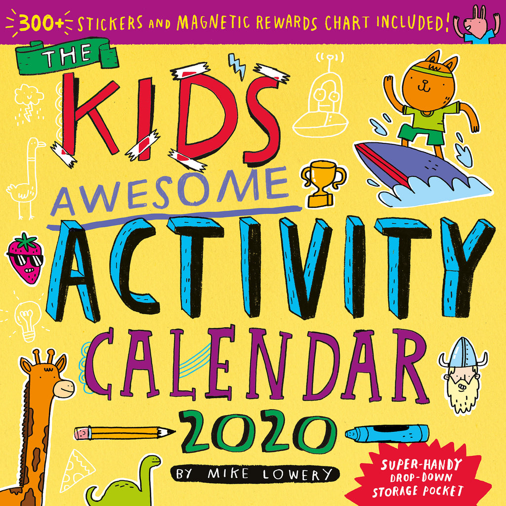 workman 2020 kids awesome activity monthly wall calendar cover