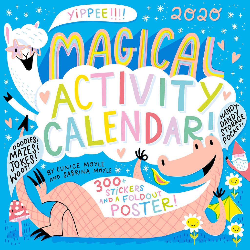 workman 2020 magical creatures activity monthly wall calendar cover