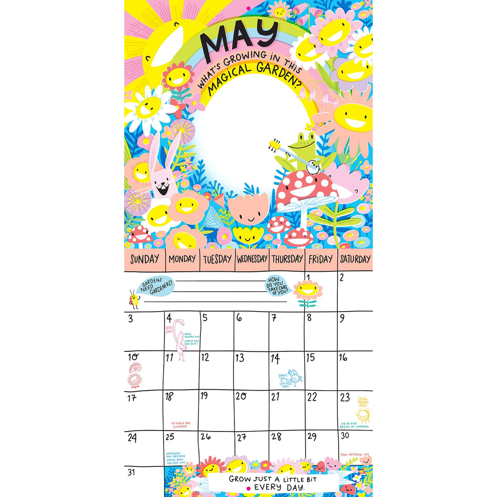 workman 2020 magical creatures activity monthly wall calendar may