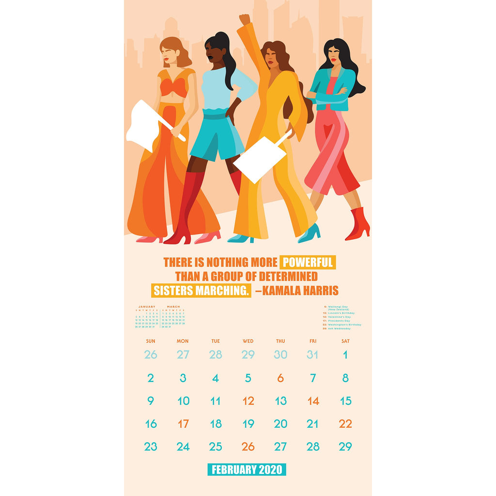 workman 2020 the future is female monthly wall calendar february