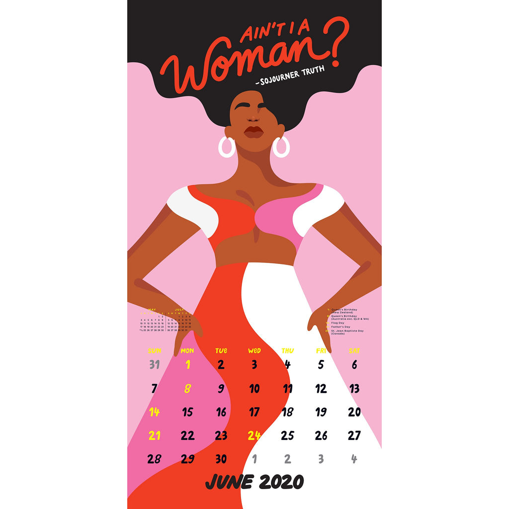workman 2020 the future is female monthly wall calendar june