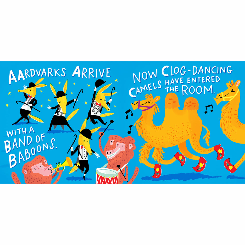 workman abc dance an animal alphabet story board book abc page
