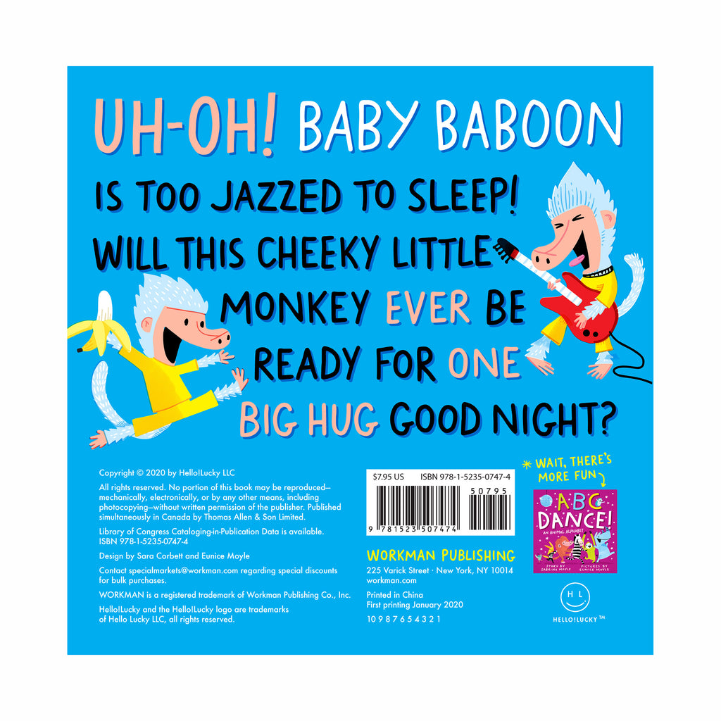 workman good night baboon a bedtime counting story board book back cover