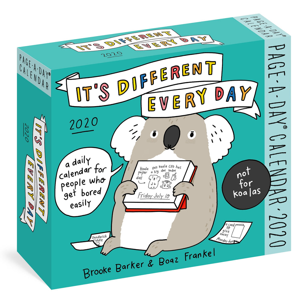 workman its different every day page a day calendar box cover