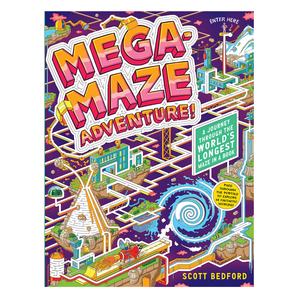 workman mega-maze adventures activity book for adults and kids cover