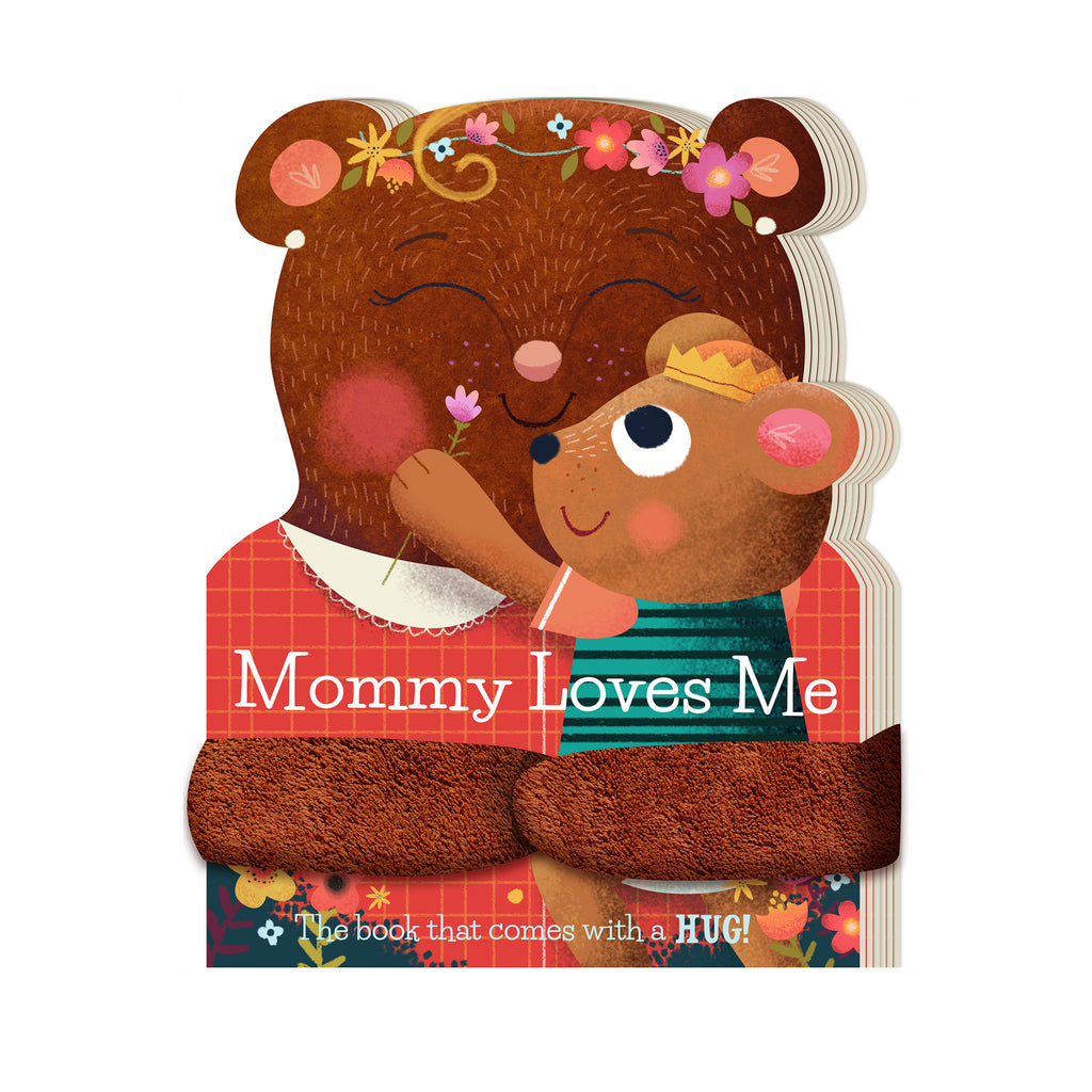 workman mommy loves me baby board book with plush hug arms cover