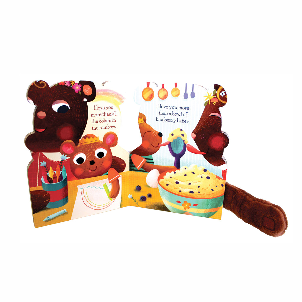 workman mommy loves me baby board book with plush hug arms inside