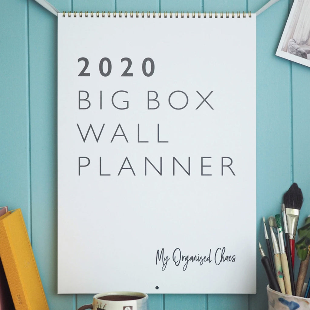 write to me 2020 my organized chaos big box write on monthly wall calendar cover