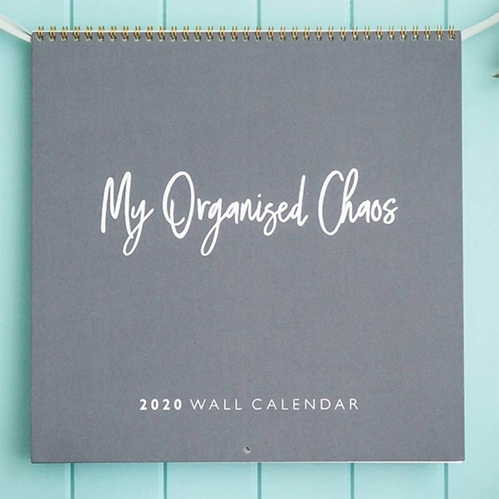 write to me 2020 my organized chaos gray linen write on monthly wall calendar cover