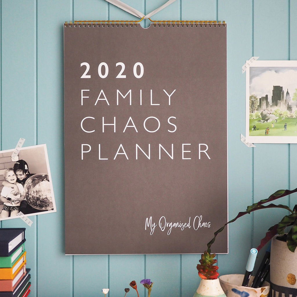 2020 Family Chaos Planner Write On Monthly Wall Calendar