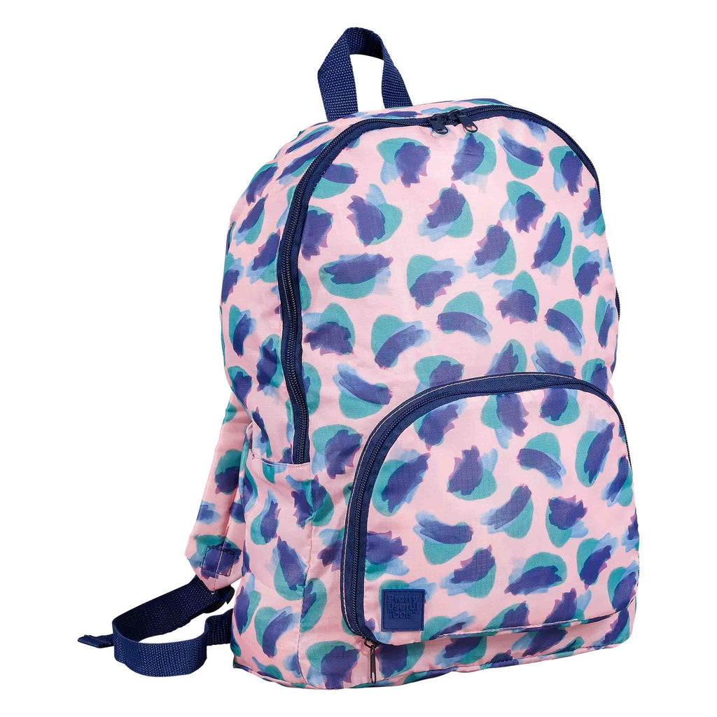 foldaway backpack in camo coral