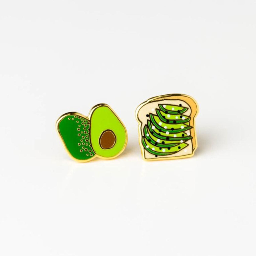 avocado toast stud earrings