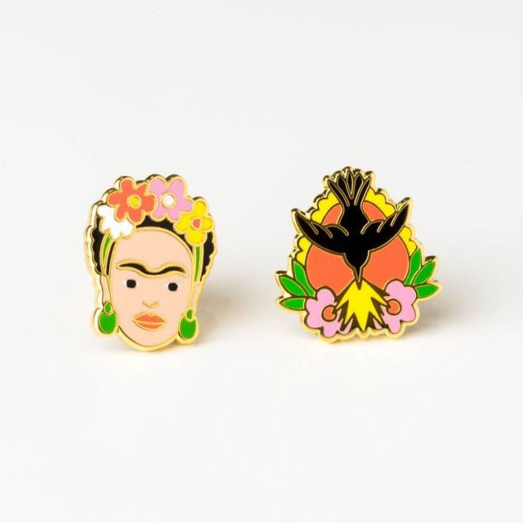 Frida Kahlo and Milagro Stud Earrings