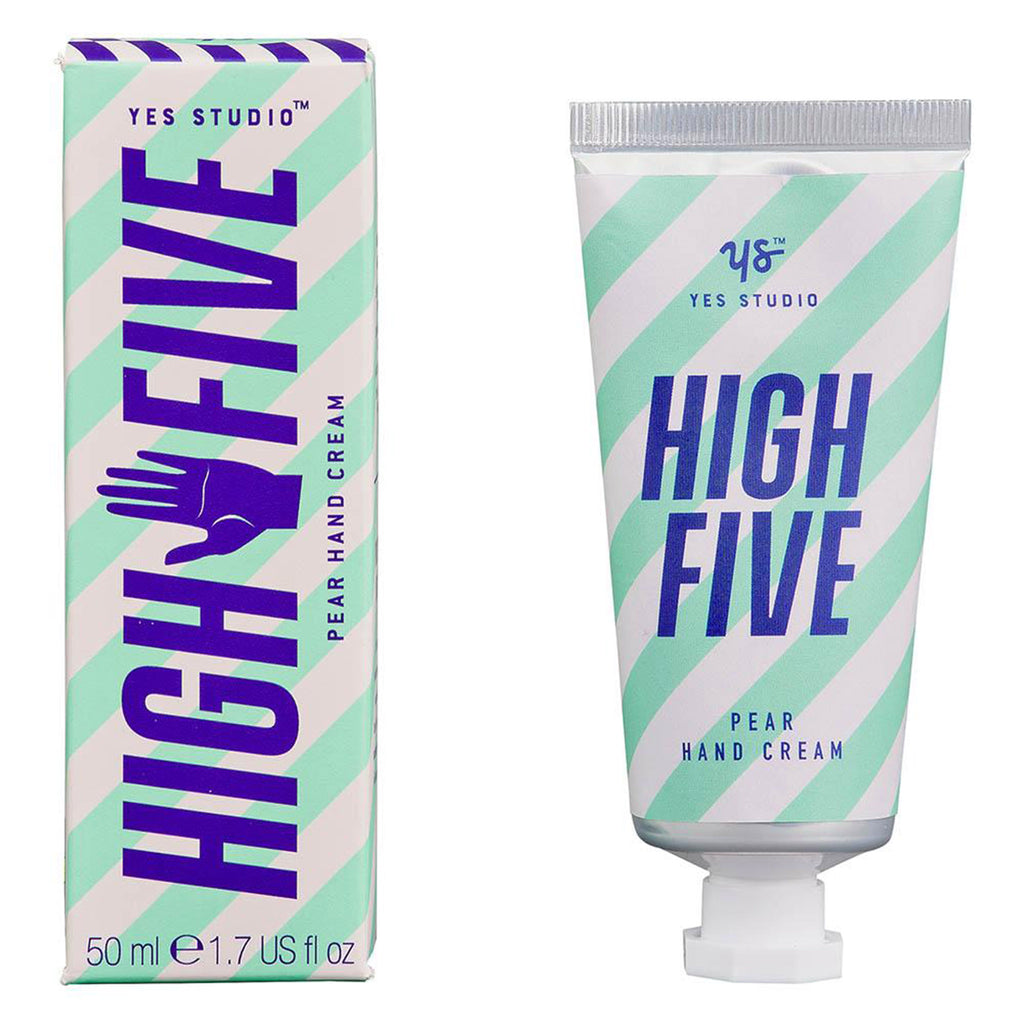 yes studio high five pear scented moisturizing hand cream tube with box