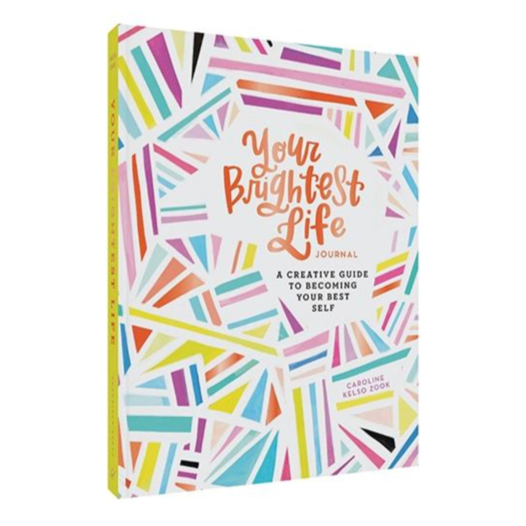 your brightest life workbook with geometric rainbow cover
