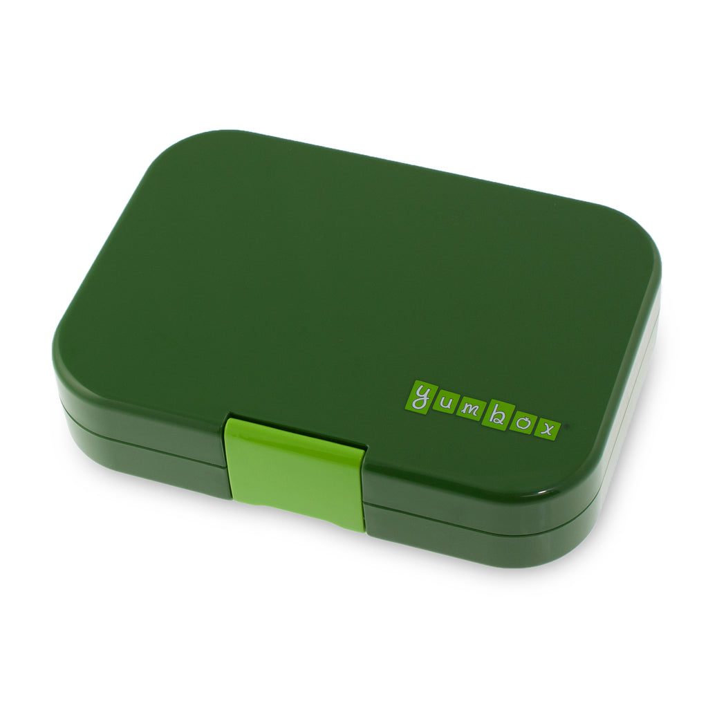 yumbox 6 compartment lunchbox brooklyn green exterior