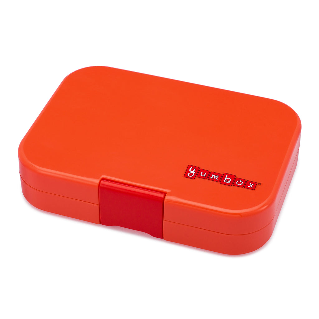 yumbox 6 compartment lunchbox saffron orange exterior