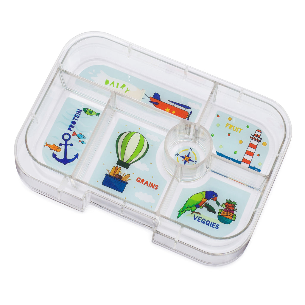 yumbox 6 compartment lunchbox saffron orange tray