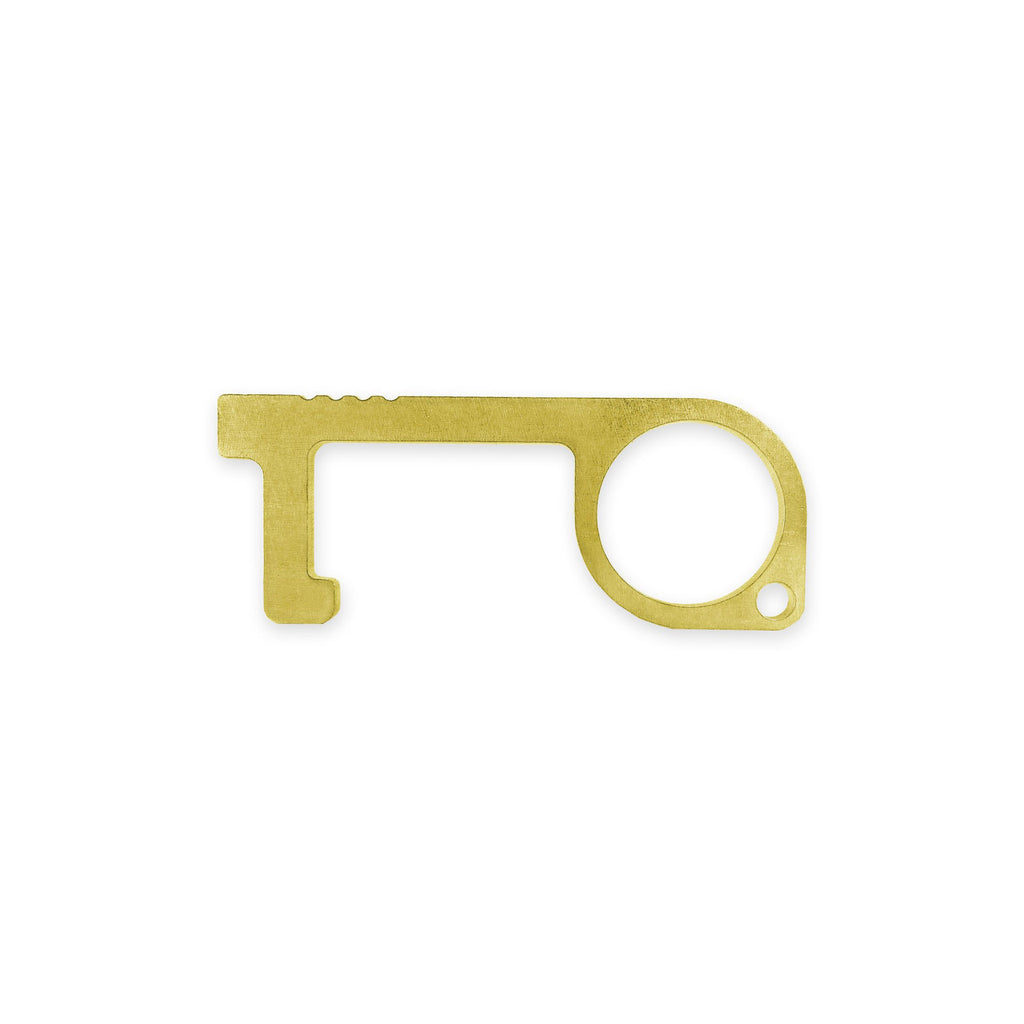 zootility tools careful key antimicrobial everyday carry tool door opener brass copper covid key