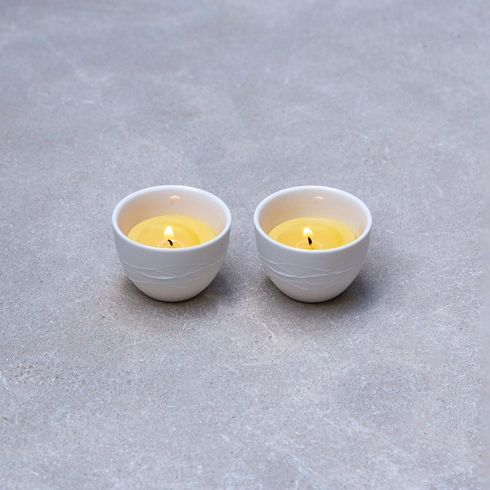 Lightbowl Ceramic with tealight
