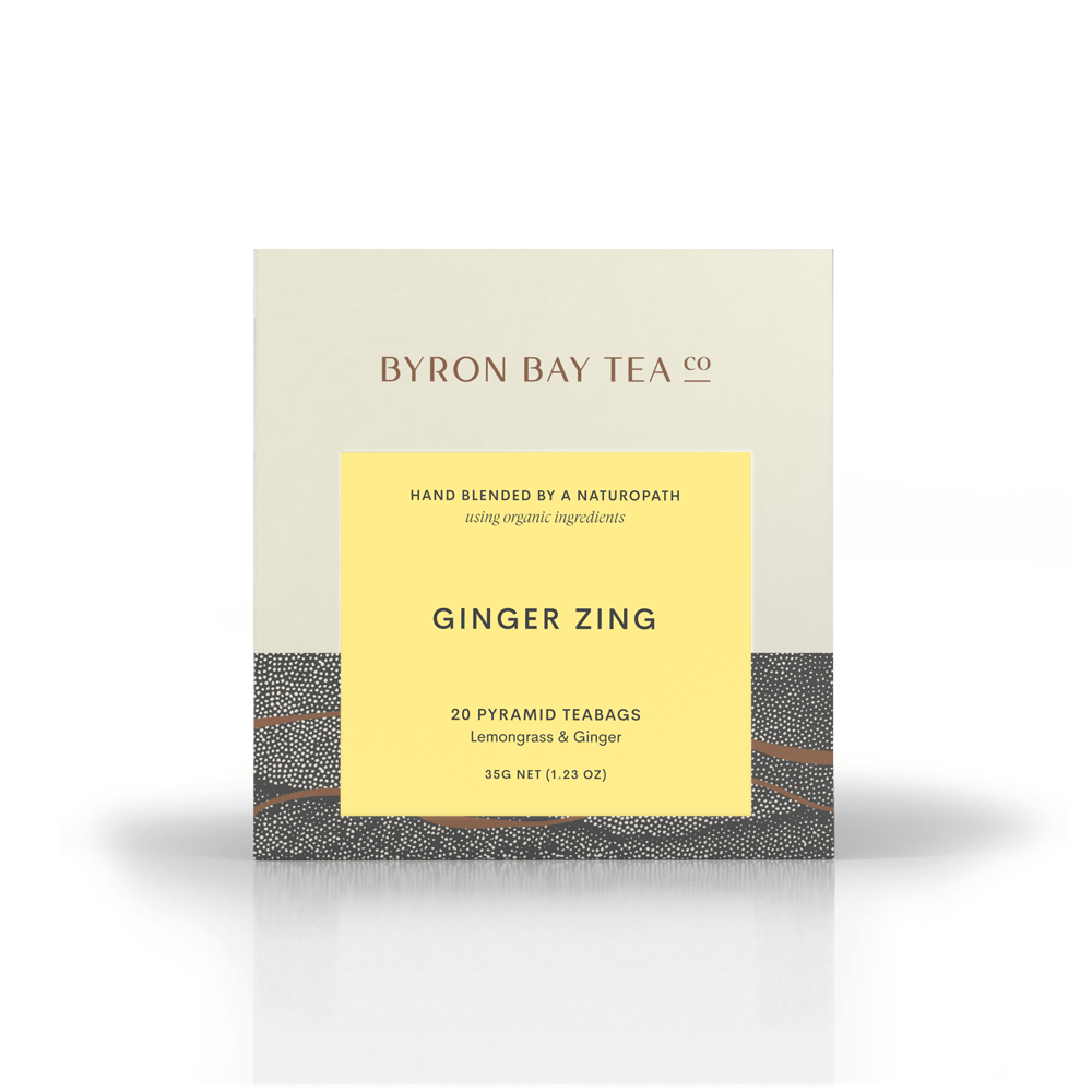 Ginger Zing Teabag Box 20tb Teabag Byron Bay Tea Company