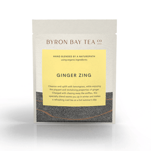 Ginger Zing Leaf Sachet Tea Leaf Byron Bay Tea Company