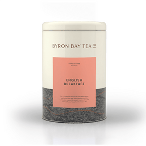 English Breakfast Teabag Tin 50tb Teabag Byron Bay Tea Company