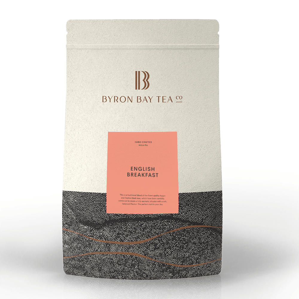 English Breakfast Teabag Refill Bag 100tb Teabag Byron Bay Tea Company