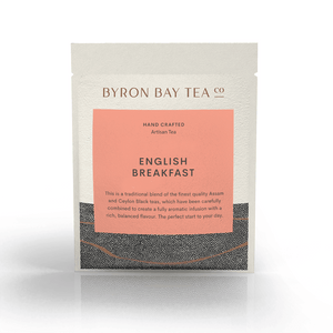 English Breakfast Leaf Sachet Tea Leaf Byron Bay Tea Company