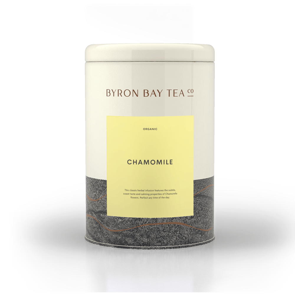 Empty Labelled Tin Chamomile Labelled Tins Traditional Teas