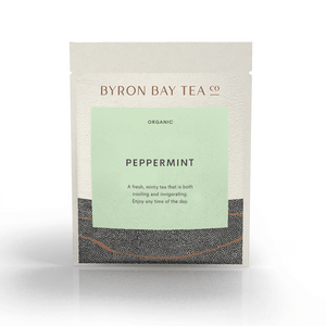 Peppermint Leaf Sachet Tea Leaf Byron Bay Tea Company