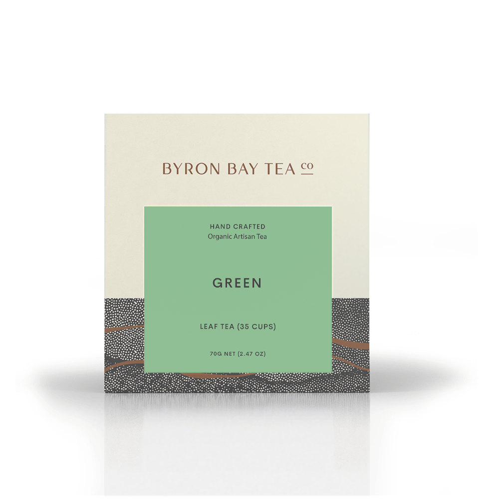 Green Teabag Box 20tb Teabag Byron Bay Tea Company