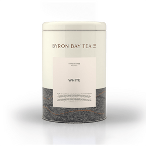 White Leaf Tin 90g Tea Leaf Byron Bay Tea Company