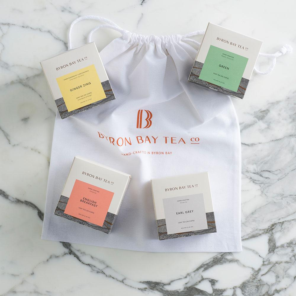 The Awesome Foursome - Gift Pack with Large Tote Bag Byron Bay Tea Company