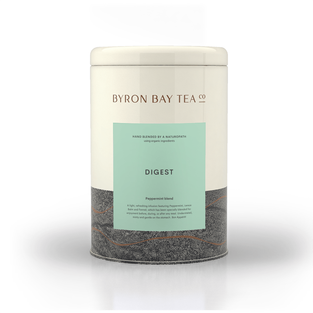 Digest Teabag Tin 50tb Teabag Byron Bay Tea Company
