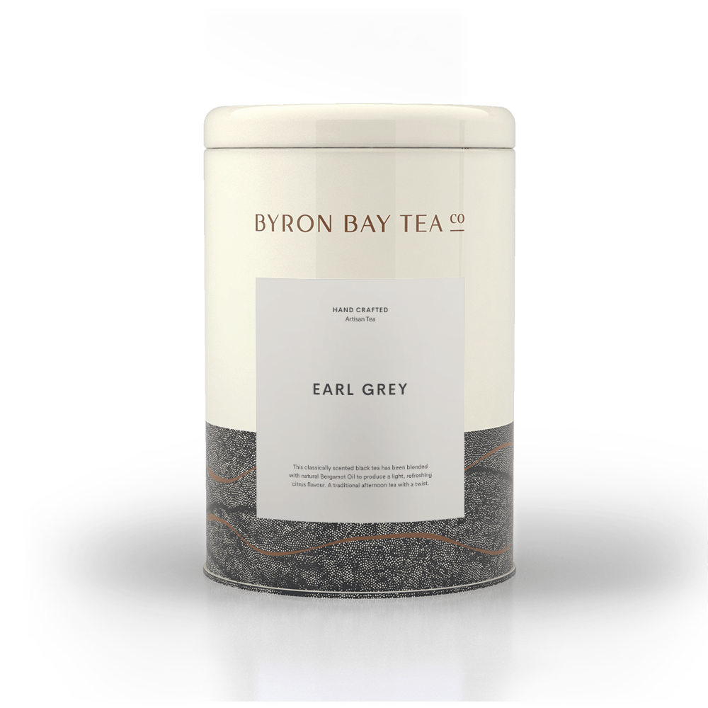 Earl Grey Teabag Tin 50tb Teabag Byron Bay Tea Company