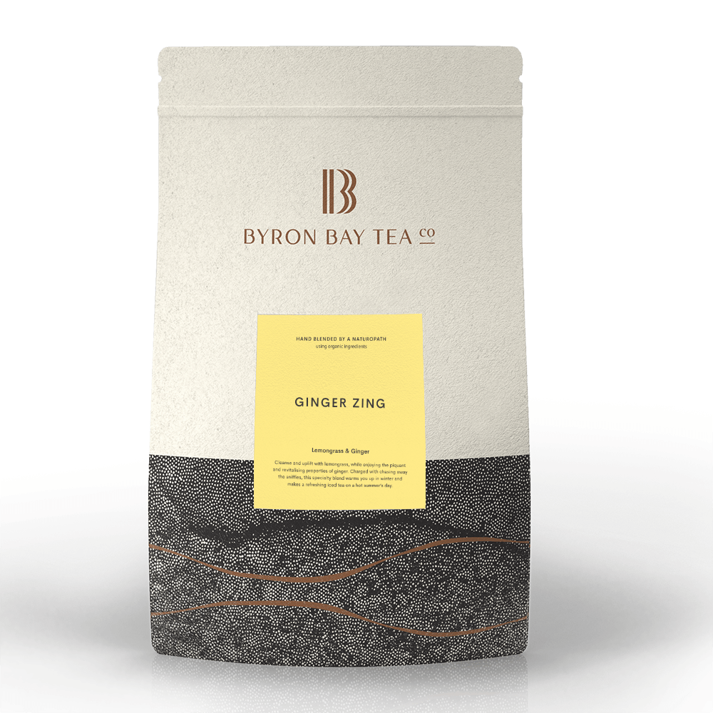 Ginger Zing Leaf Refill Bag 360g Tea Leaf Byron Bay Tea Company