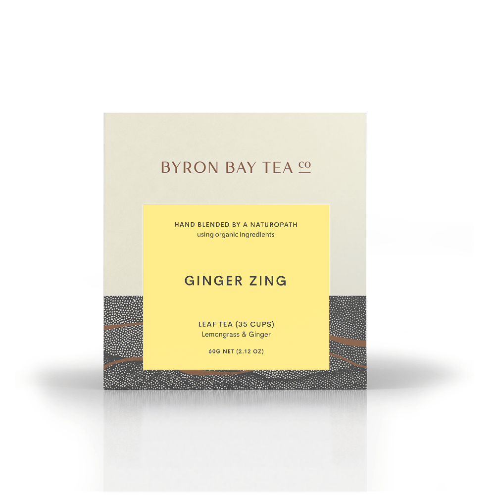 Ginger Zing Leaf Box 60g Tea Leaf Byron Bay Tea Company