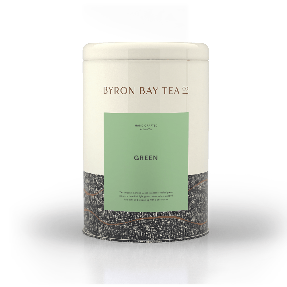 Green Leaf Tin 210g Tea Leaf Byron Bay Tea Company