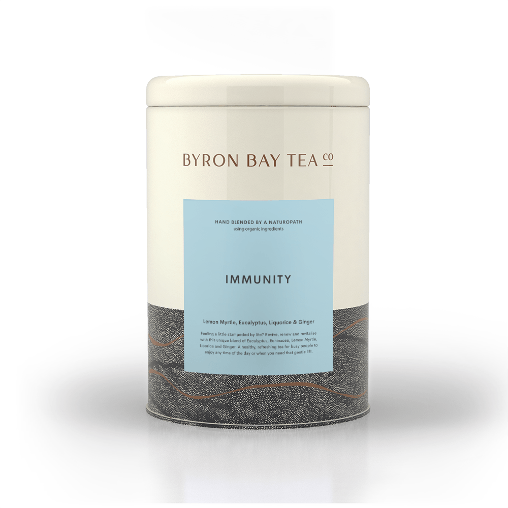 Immunity Leaf Tin 180g Tea Leaf Byron Bay Tea Company