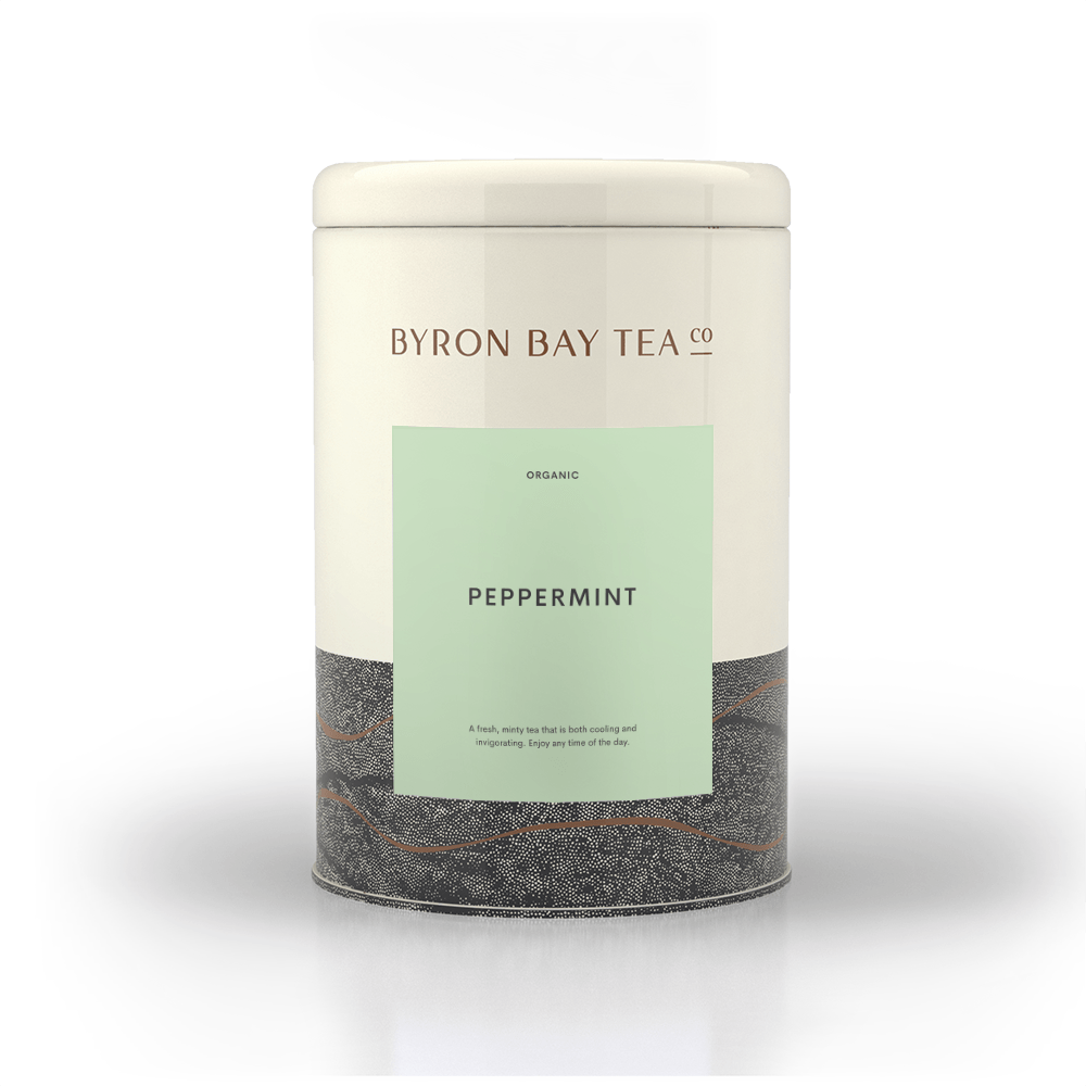 Peppermint Leaf Tin 75g Tea Leaf Byron Bay Tea Company
