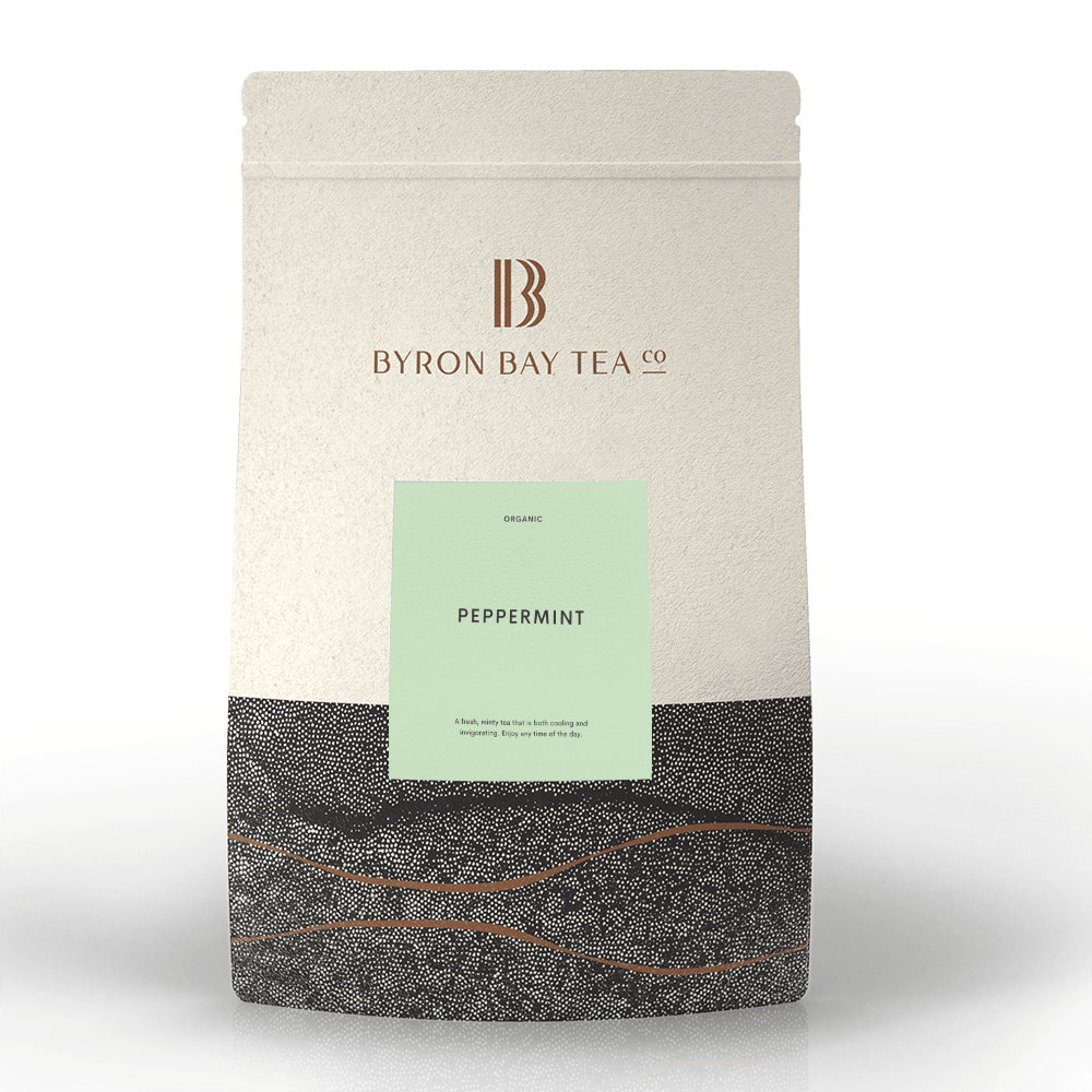 Peppermint Teabag Refill Bag 100tb Teabag Byron Bay Tea Company