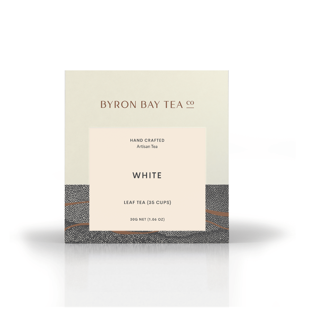 White Leaf Box 30g Tea Leaf Byron Bay Tea Company