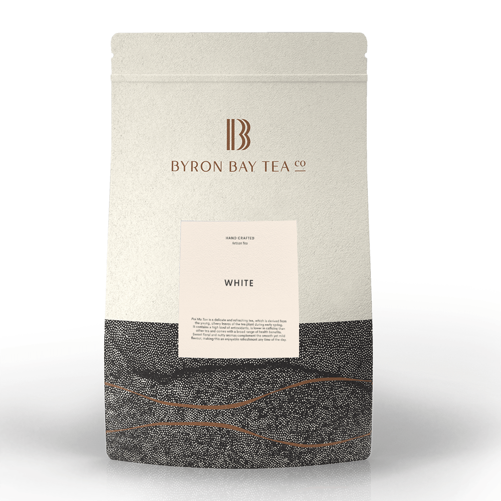 White Leaf Refill Bag 180g Tea Leaf Byron Bay Tea Company