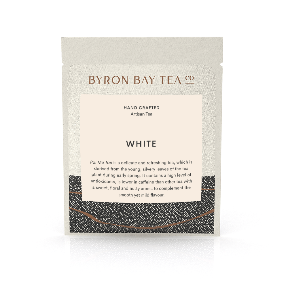White Leaf Sachet Tea Leaf Byron Bay Tea Company