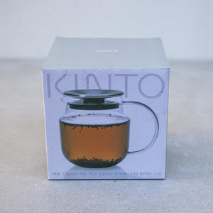 Teaware One Touch Teapot Stainless Steel 620ml Teaware Byron Bay Tea Company