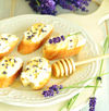 Baguette with Goat Cheese and Lavender Honey