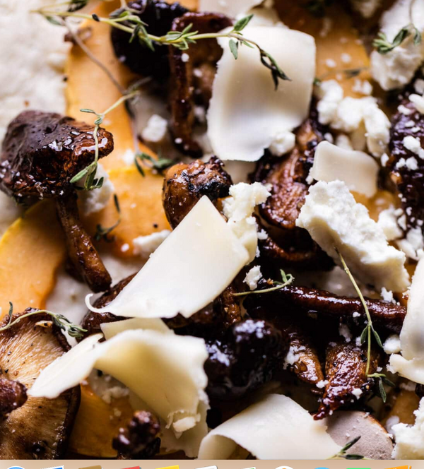 MUSHROOM GOAT CHEESE DELICATA SQUASH WOOD FIRED PIZZA