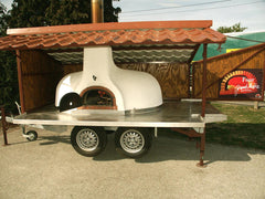 trailer wood fired brick oven bread stone ovens